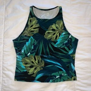 Palm tree crop top size small